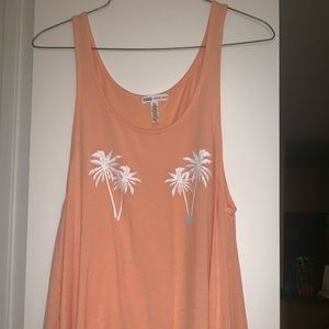 Tank top with palm trees